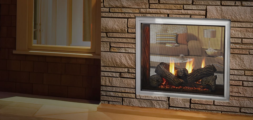 Heat & Glo Foundation See-Through Gas Fireplaces